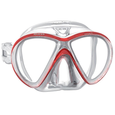 Mares X-Vu LiquidSkin Sunrise Dive Mask - Red / White - Mike's Dive Store