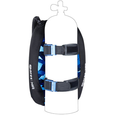 Mares XR Blue Battle Single Backmount Set - Back -  Mike's Dive Store
