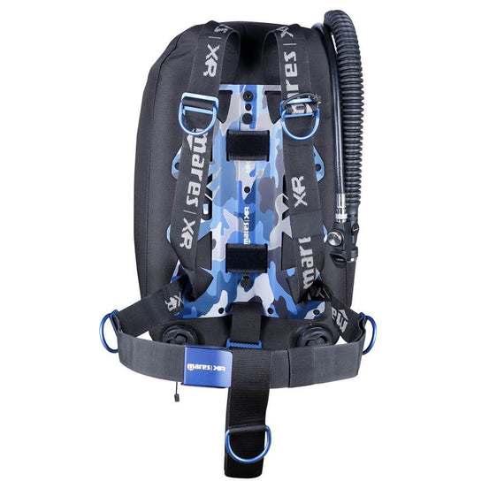 Mares XR Blue Battle Single Backmount Set - Mike's Dive Store