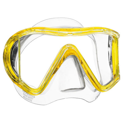 Mares i3 Dive Mask - Clear / Yellow - Mike's Dive Store
