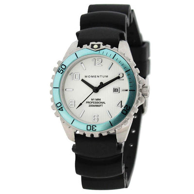 Momentum M1 Mini Watch - Aqua / Black - Mike's Dive Store