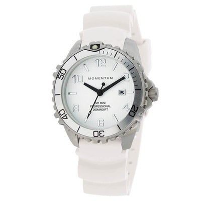Momentum M1 Mini Watch - Silver / White - Mike's Dive Store