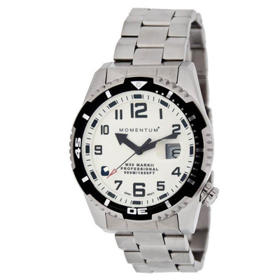 Momentum M50 MK II Steel Watch - White - Mike's Dive Store