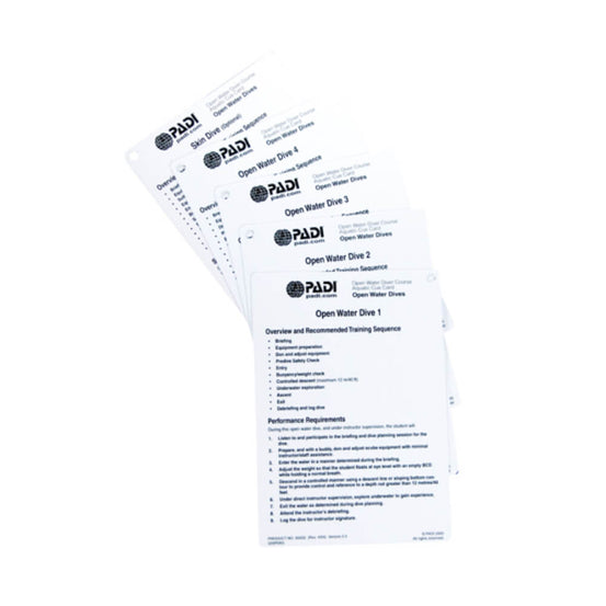 PADI Cue Cards - Open Water- Aquatic | Mike's Dive Store