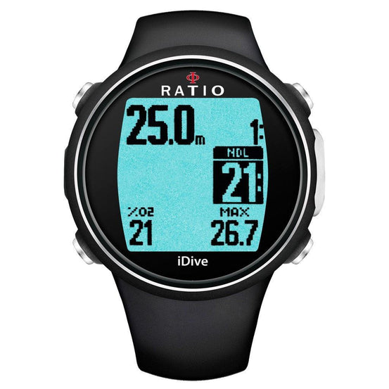 Ratio iDive Sport Easy Dive Computer - Black - Mike's Dive Store