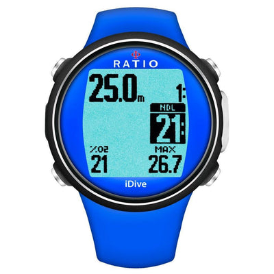 Ratio iDive Sport Easy Dive Computer - Blue - Mike's Dive Store