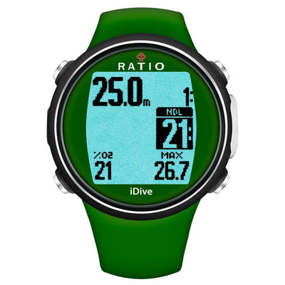 Ratio iDive Sport Easy Dive Computer - Green - Mike's Dive Store