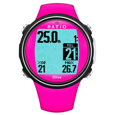 Ratio iDive Sport Easy Dive Computer - Pink - Mike's Dive Store