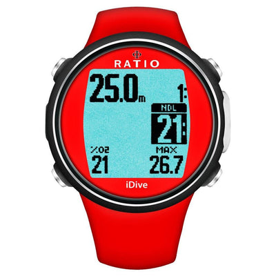 Ratio iDive Sport Easy Dive Computer - Red - Mike's Dive Store