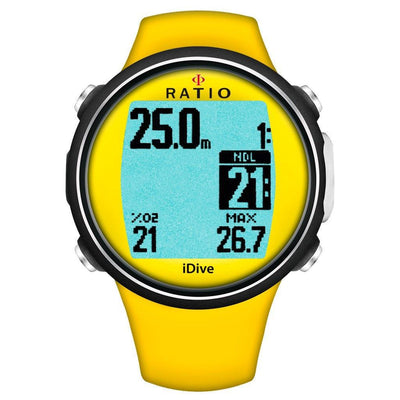 Ratio iDive Sport Easy Dive Computer - Yellow - Mike's Dive Store