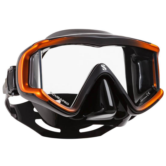 Scubapro Crystal VU Mask - Black / Orange - Mike's Dive Store
