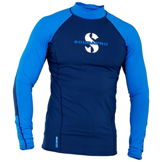 Scubapro T-Flex Long Sleeve Men's Rash Guard - Blue - Mike's Dive Store
