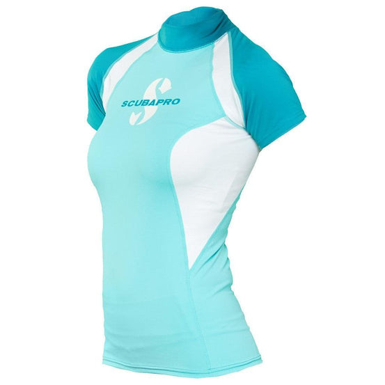 Scubapro T-Flex Short Sleeve Women's Rash Guard - Caribbean - Mike's Dive Store