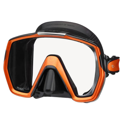 Tusa Freedom HD Dive Mask - Black / Energy Orange - Mike's Dive Store