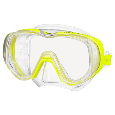 Tusa Freedom Tri-Quest Mask - Flash Yellow - Mike's Dive Store