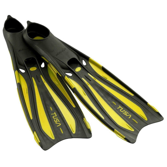 Tusa Solla Full Foot Fins - Flash Yellow - Mike's Dive Store