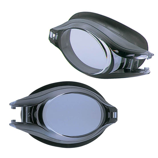 View Platina V500A Prescription Swimming Goggles Set - Black - Lenses