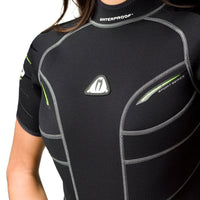 Waterproof W30 2.5mm Wetsuit Shorty Women's - Torso Detail - Mike's Dive Store