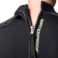 Waterproof W30 2.5mm Wetsuit Men's - Zip Detail - Mike's Dive Store