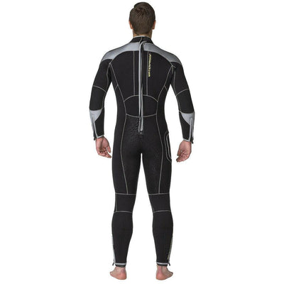 Waterproof W4 7mm Wetsuit Men's - Back - Mike's Dive Store