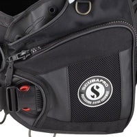 Scubapro X-Black BCD - Pocket Detail - Mike's Dive Store