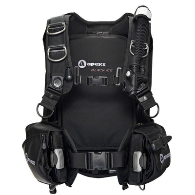 Apeks Black Ice BCD - Front - Mike's Dive Store