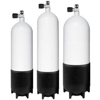 Apeks 12 Ltr Dumpy Cylinder with Basic Valve and Boot - Mike's Dive Store - 1