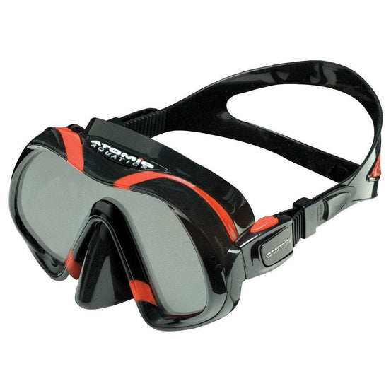 Atomic Venom Dive Mask - Black / Red - Mike's Dive Store