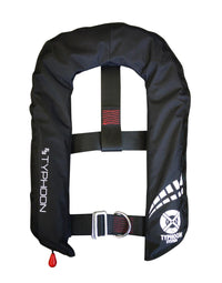 Typhoon Inflatable Cyclone 150 Lifejacket Auto & HarnessBlack - Mike's Dive Store - 2