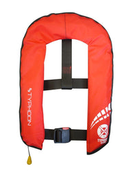 Typhoon Inflatable Cyclone 150 Lifejacket Auto & HarnessRed - Mike's Dive Store - 1