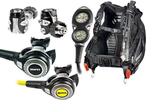 Mares MR52 Abyss Regulator with Dragon BCD Dive Equipment Package - Mike's Dive Store