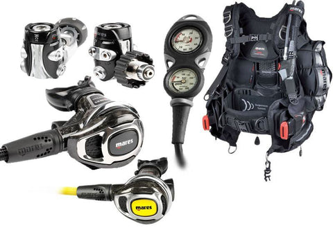Mares MR52 Carbon Regulator with Hybrid Pro Tec BCD Dive Equipment Package - Mike's Dive Store