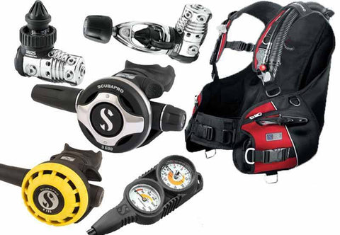 Scubapro Premium Lightweight Diving Equipment Package - Mike's Dive Store