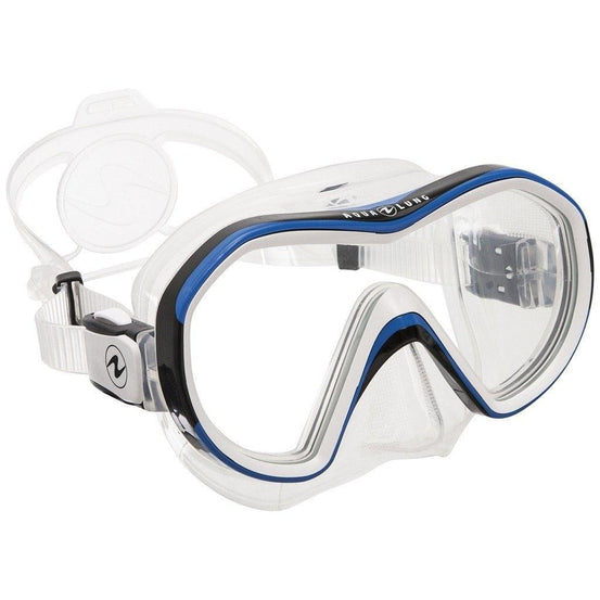 Aqua Lung Reveal X1 Mask - Clear / Blue - Mike's Dive Store