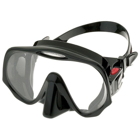 Atomic Frameless Medium Fit Dive MaskClear/Black - Mike's Dive Store - 1