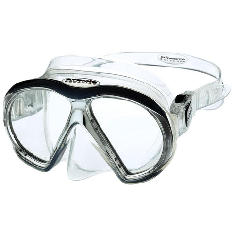 Atomic SubFrame Dive and Snorkel MaskBlack with Clear Skirt - Mike's Dive Store - 2