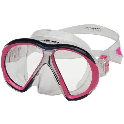 Atomic SubFrame Dive and Snorkel MaskPink with Clear Skirt - Mike's Dive Store - 4