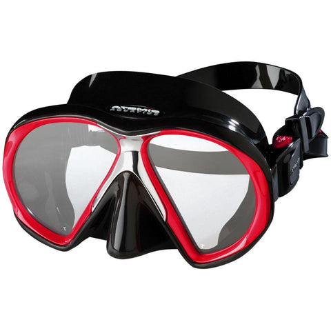Atomic SubFrame Dive and Snorkel MaskRed with Black Skirt - Mike's Dive Store - 9