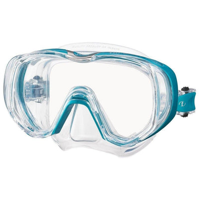 Tusa Freedom Tri-Quest Mask - Ocean Green - Mike's Dive Store