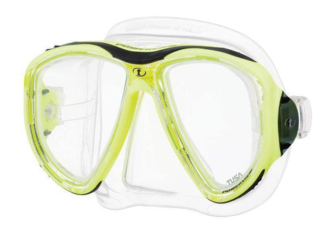 Tusa Powerview Dive MaskFluoroscent Yellow - Mike's Dive Store - 4