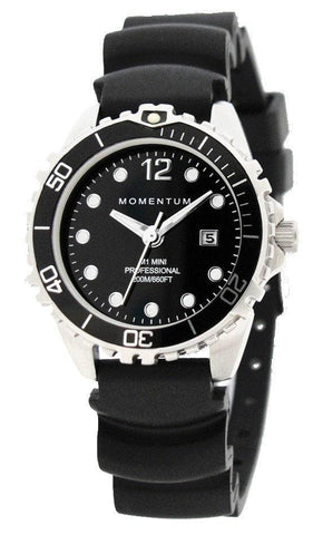 Beaver Momentum M1 Mini Watch with Rubber StrapBlack - Mike's Dive Store - 1