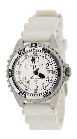Beaver Momentum M1 Twist Ladies Watch with Rubber StrapWhite - Mike's Dive Store - 2