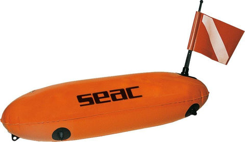 Seac Florecent Torpedo Buoy w/line - Mike's Dive Store