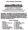 Aquasketch App - Dive Safety Checklist - Mike's Dive Store