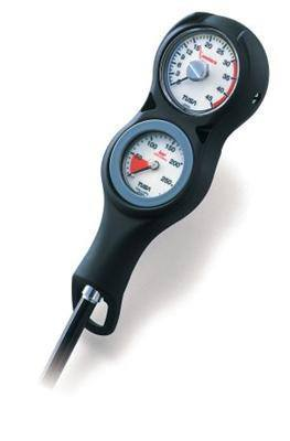 Tusa Double Gauge Console with SPG and Depth GaugeGauge - 2 Gauge BK HP/D - Mike's Dive Store
