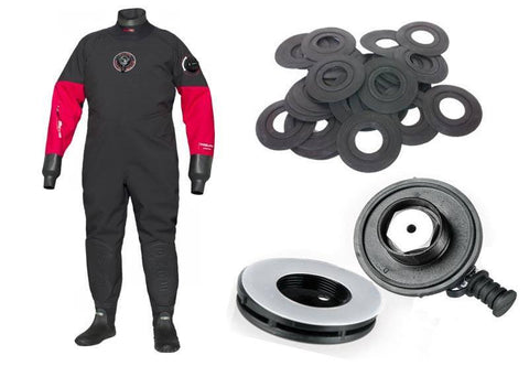 Drysuit Valve Fittings, Replacements and Removals - Mike's Dive Store