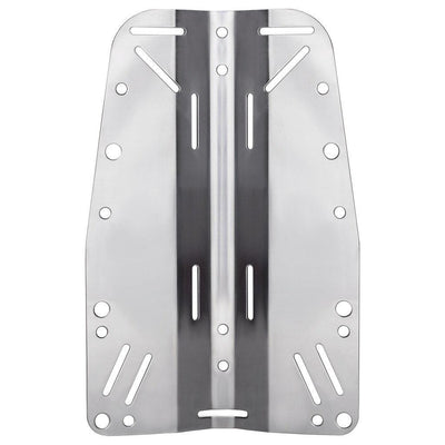 Finnsub Fly Backplate - Stainless Steel - Mike's Dive Store