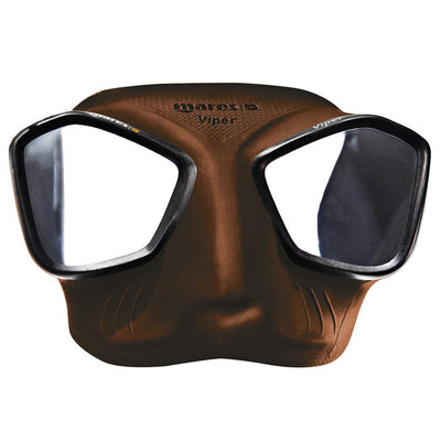 Mares Viper Freediving Mask - Brown - Mike's Dive Store