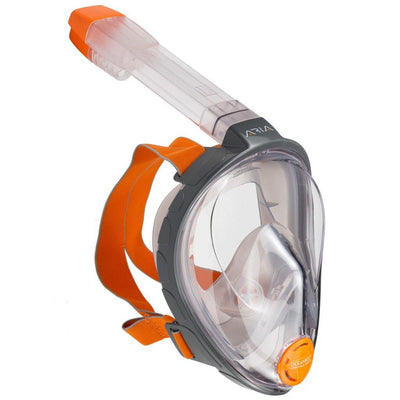 Ocean Reef Aria Full Face Snorkelling Mask - Grey - Mike's Dive Store