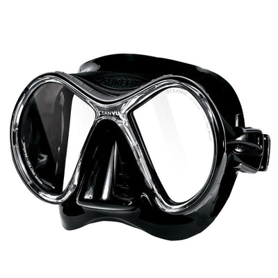Oceanic Oceanvu Mask - Black / Titanium - Mike's Dive Store
